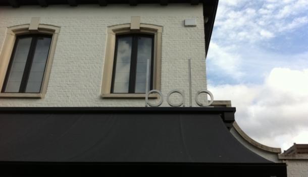 RVS doosletters in brushed aluminium rechtopstaand op dak gemonteerd