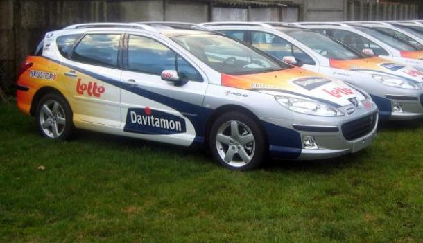 volledige belettering van Davitamon-Lotto